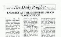 The Daily Prophet prints Charity Burbage's opinion piece