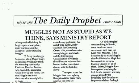 DP1 Daily Prophet newsletter (Front Page)