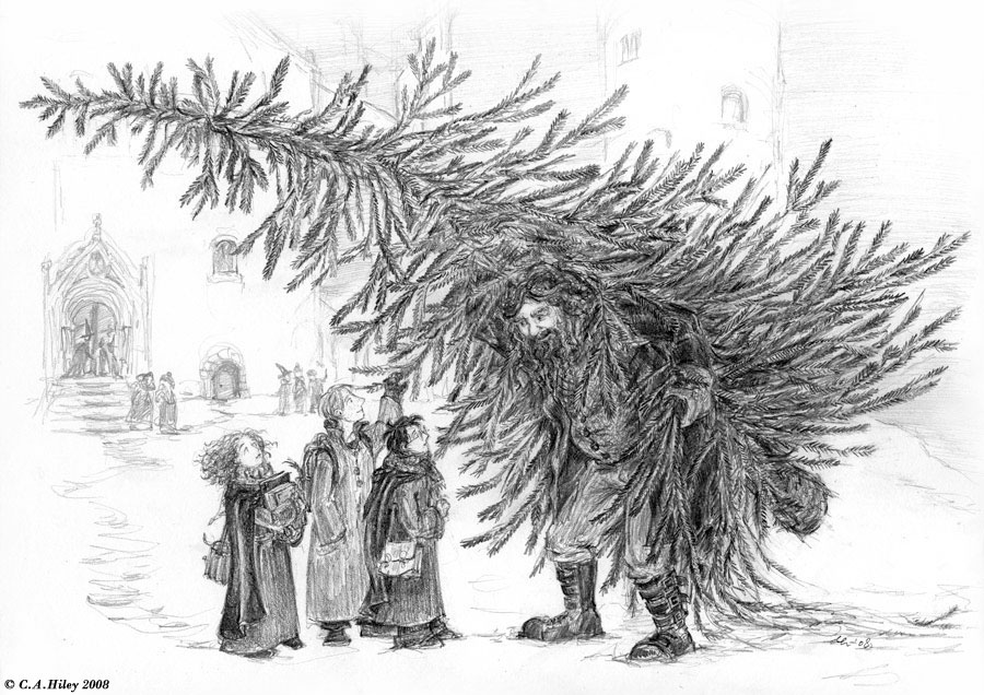 Hagrid and the Christmas Tree