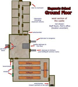 Hogwarts ground floor map