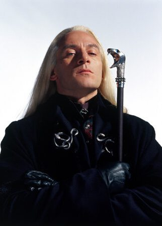 Lucius Malfoy, as played by Jason Isaacs in the CS film