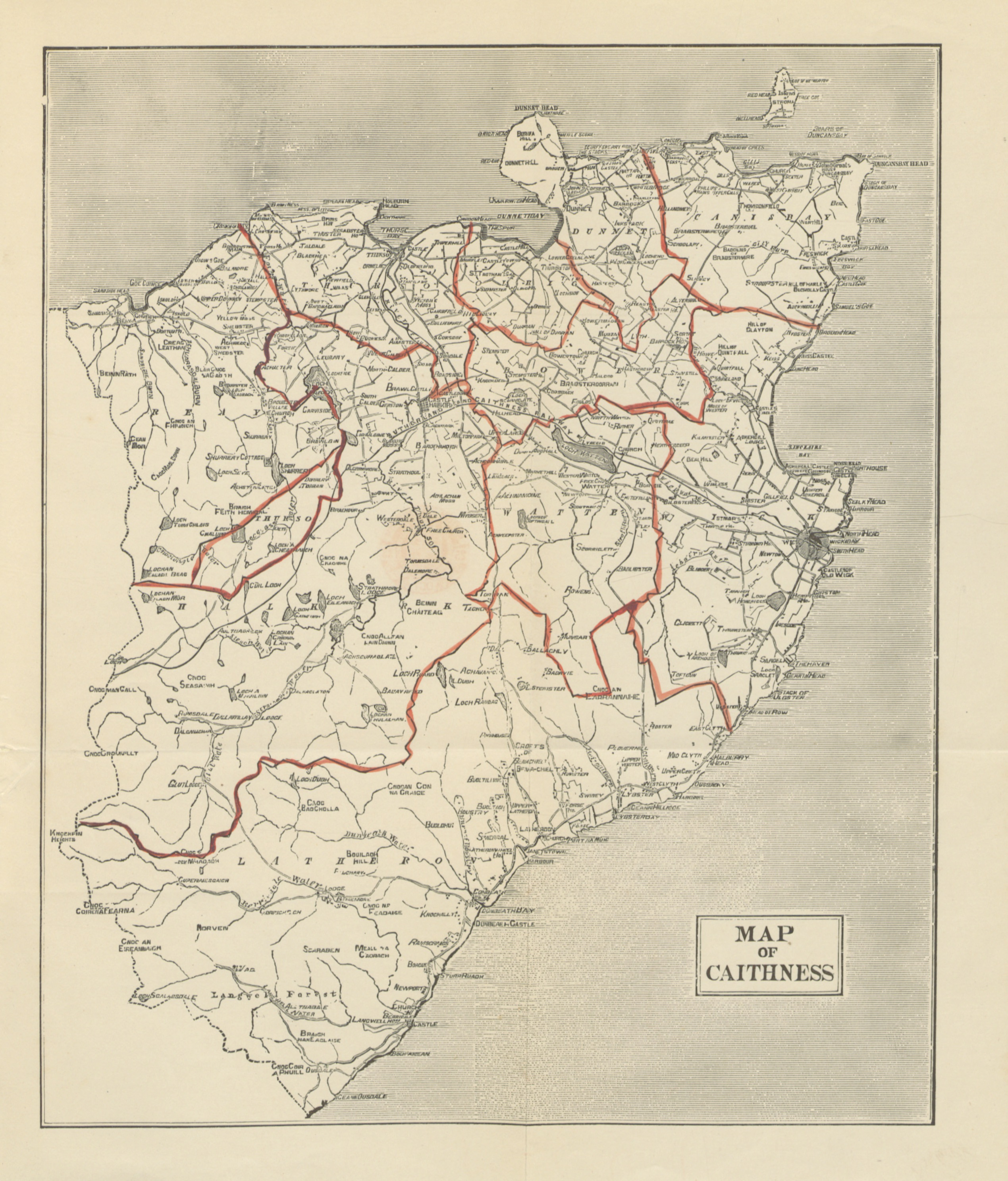 Map of Caithness