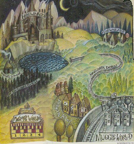 Wizarding World map