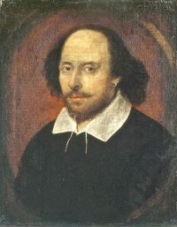 William Shakespeare, English playwright and poet, is born