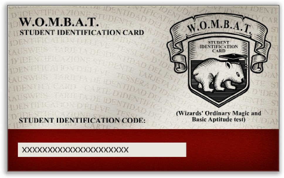 WOMBAT student ID card