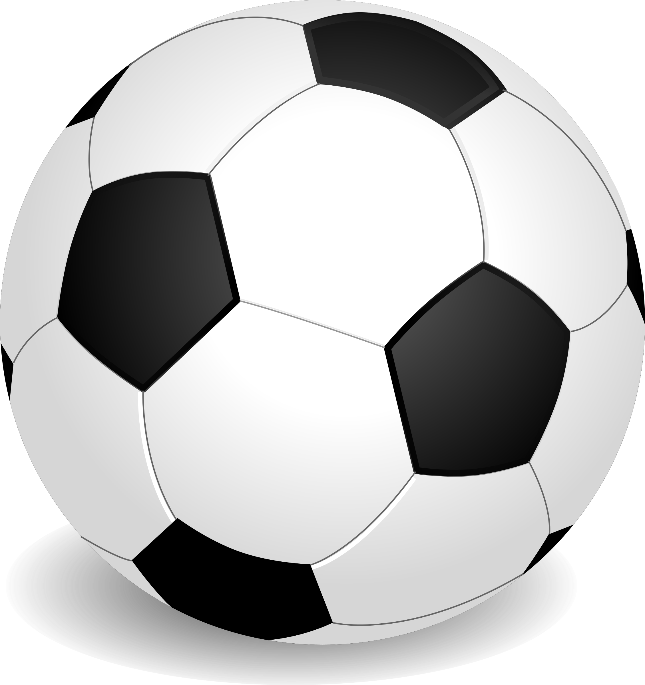 A football (soccer ball)