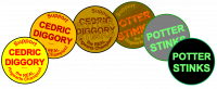 Potter Stinks/Support Cedric Diggory badges