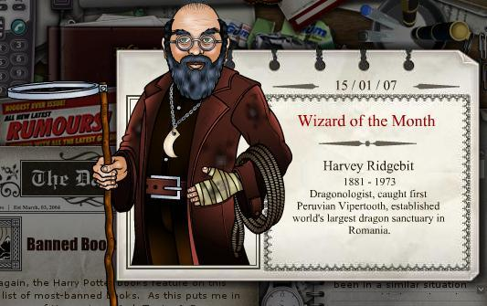 Harvey Ridgebit, famous Dragonologist