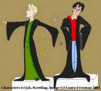 Madam Malkin's: Harry and Draco meet for the first time