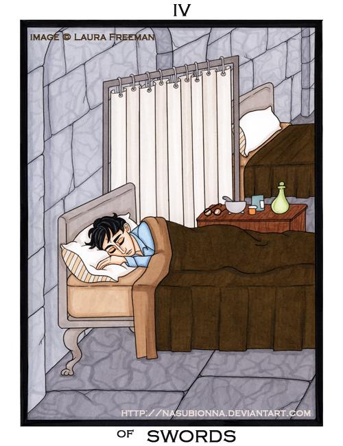 Harry Potter Tarot :: 4 of Swords