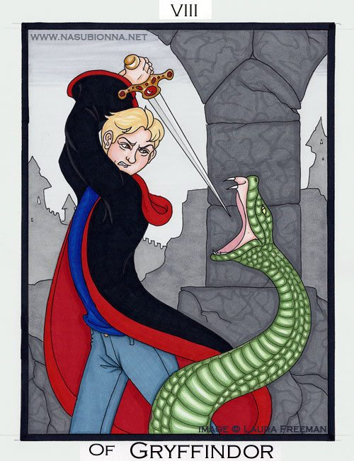 Harry Potter Tarot: 8 of Wands