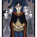 Harry with parents, Sirius and Remus.