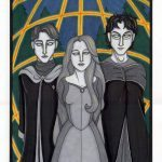 Ghosts of Cedric Diggory, Lily and James Potter.