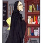 Professor Severus Snape in his classroom.