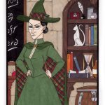 Professor McGonagall as King of Wands.
