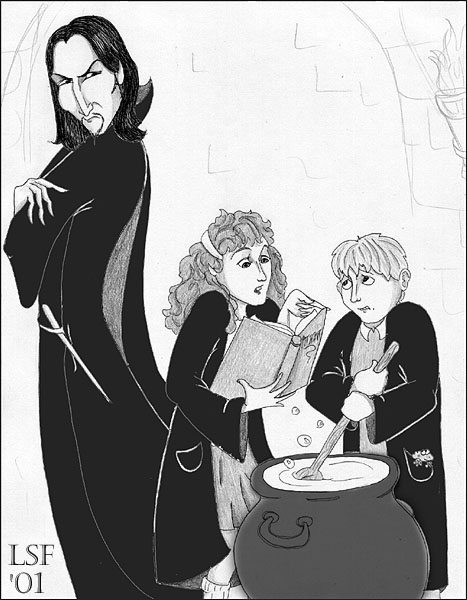 Hermione and Neville in Potions