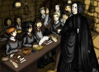 Harry's first potions class