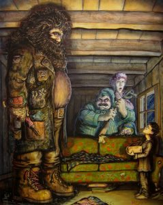 Hagrid finds Harry and Dursleys.