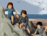 Tom Riddle terrorizes two children in the sea cave