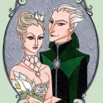 Malfoy wedding portrait.