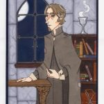 Professor Remus Lupin in his classroom.