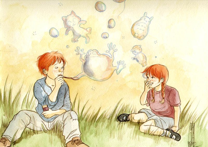 Young Ron and Ginny