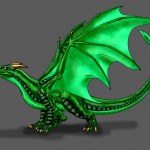 Common Welsh Green dragon.
