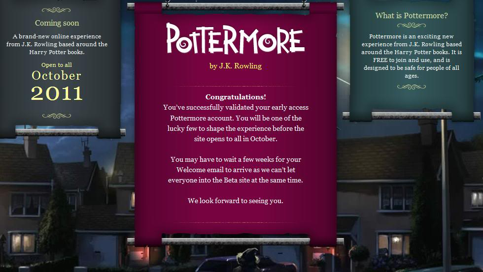 Pottermore Validation