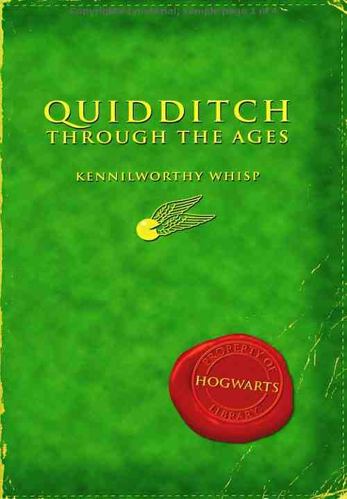 Image result for quidditch through the ages book cover