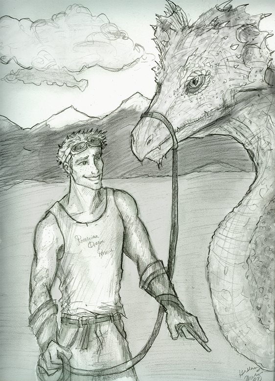 Charlie and a dragon