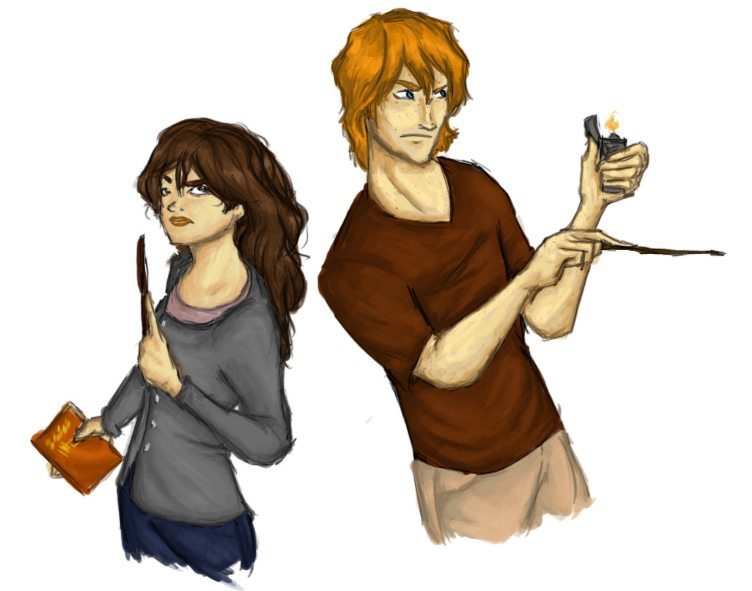 DH: Ron and Hermione