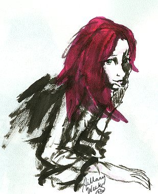 Lily Potter in ink