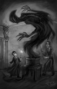 Lupin begins teaching Harry to cast the Patronus Charm