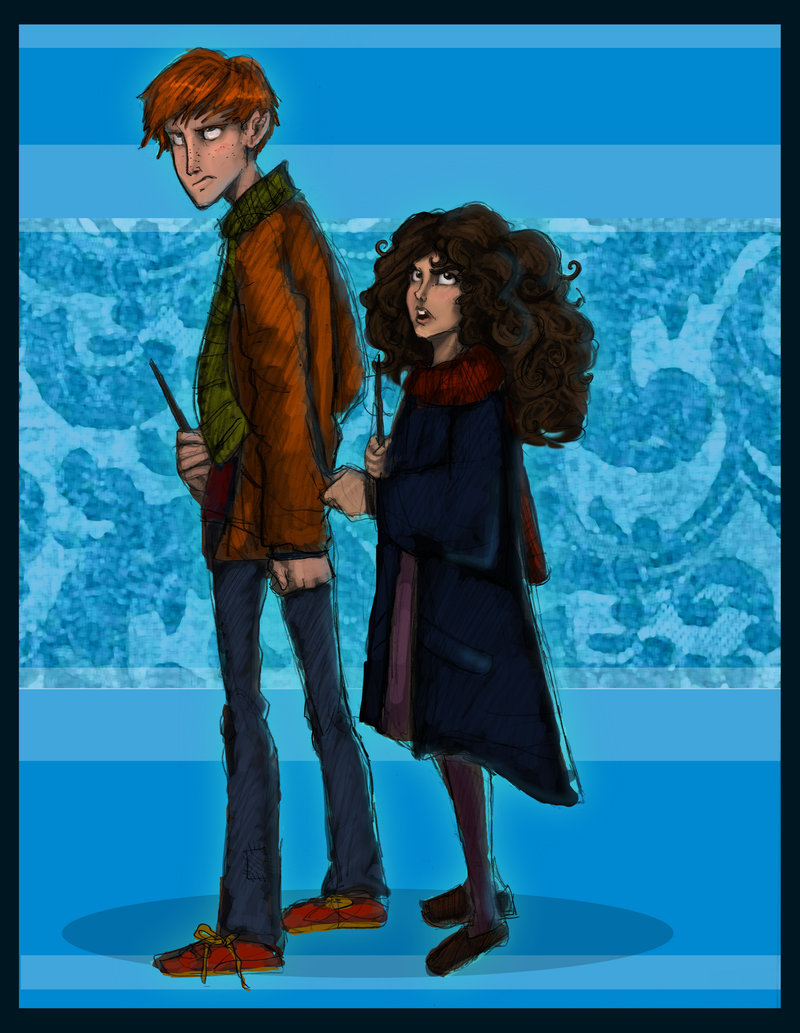 Ron and Hermione, First Year