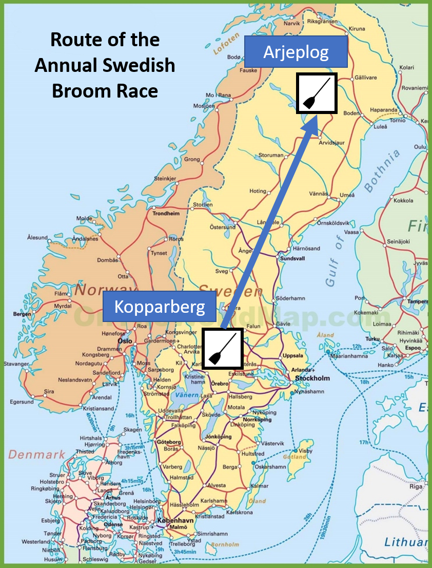 Route of the Swedish Broom Race