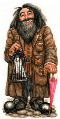 Hagrid buys Harry his owl, Hedwig