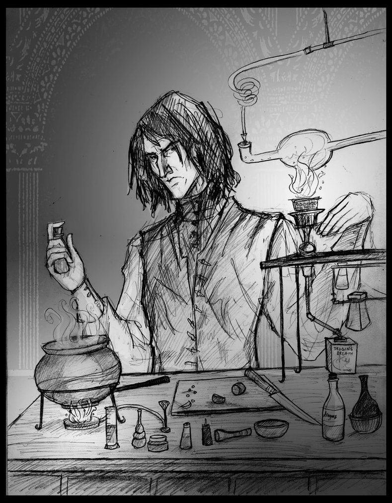 Snape Doing Potions