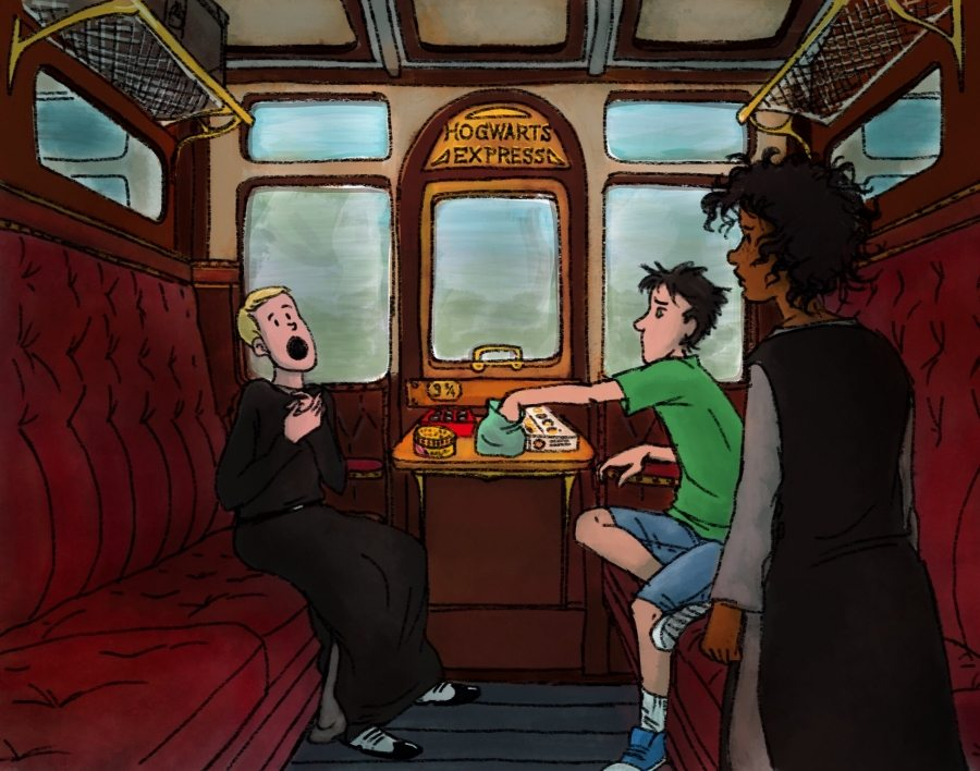 Scorpius Malfoy and Albus Potter meet on the Hogwarts Express