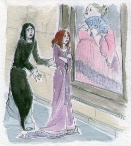 Snape and Lily by the Fat Lady portrait.