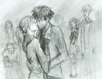 Harry and Ginny kiss for the first time