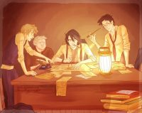 The Marauder's Map is written