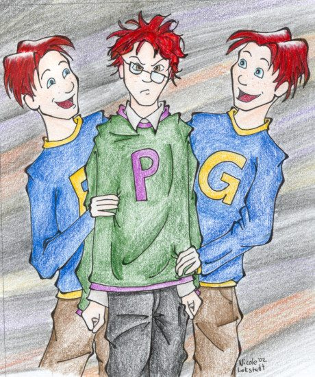 Twins Tormenting Percy