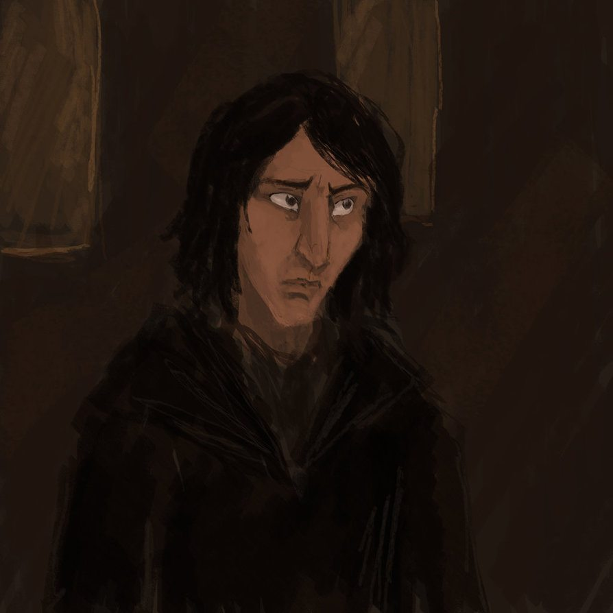 young snape quick sketch