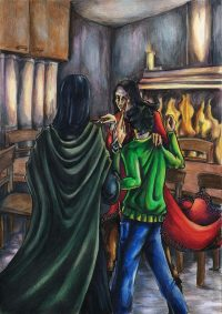 Sirius Black and Severus Snape Argue at Grimmauld Place