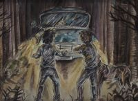 The Ford Anglia rescues Harry and Ron from Acromantulas