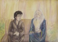 Harry and Dumbledore Talk at King's Cross