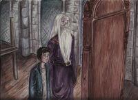 Harry and Dumbledore discuss the Mirror of Erised