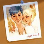 Picture of Teddy Lupin with Victoire Weasley.