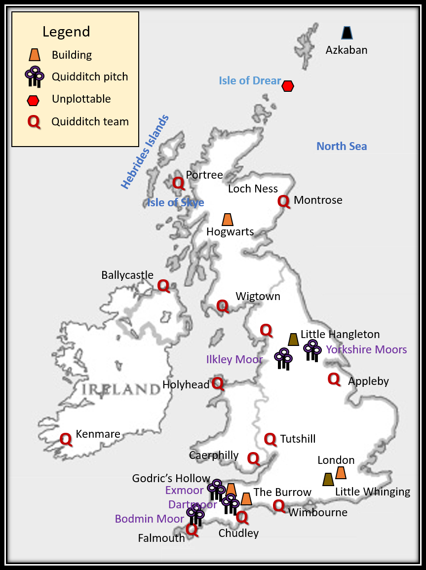Map of Wizarding Britain