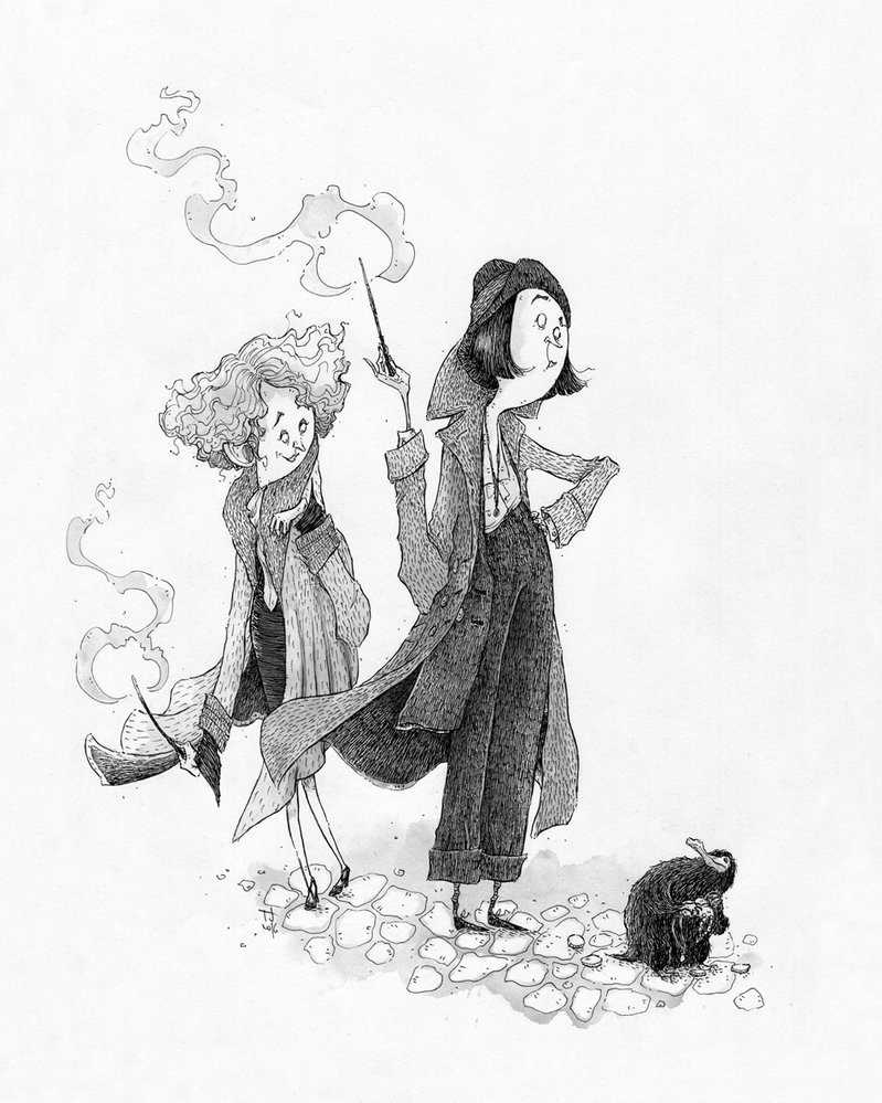 Goldstein Sisters and Niffler (Fantastic Beasts)